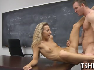 Tiny girl gets dirty ride