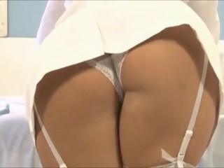 Sexy brunette nurse getting shagged