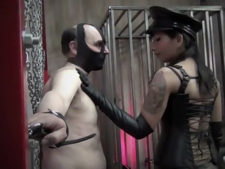 Mistress siren squeezing slaves nipples
