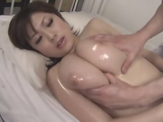 Crazy Japanese whore Rio Hamasaki, Saki Tsuji in Incredible Massage JAV video