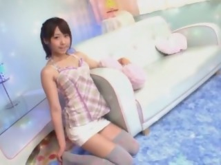 Amazing Japanese girl Kokoro Kawaii in Hottest Stockings, Blowjob JAV scene