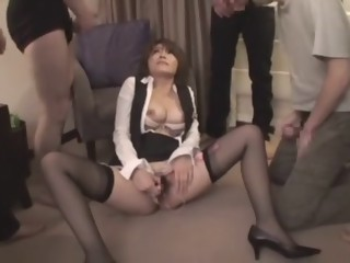 Amazing Japanese slut Saki Kataoka in Incredible Facial, Stockings JAV video