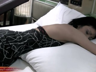 ###y ladyboy wakes up with hand in panties and hard cock