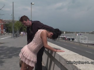 Hot Hungarian babes disgraced in public