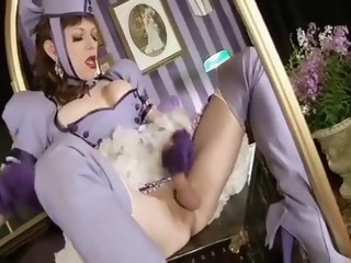 Crazy amateur shemale movie with Redhead, Stockings scenes