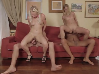Amazing pornstars Violette Pure and Lola Taylor in incredible dp, hairy sex movie