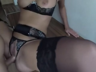 Amazing homemade Anal, Stockings xxx movie