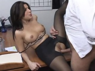 Hottest pornstar Sativa Rose in horny latina, stockings porn scene