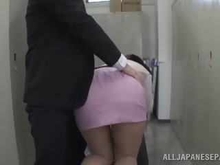 Hana Haruna is a lovely Asian babe deep throating cock