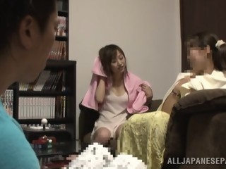 Desirable Japanese AV Model gets facial after hot blowjob