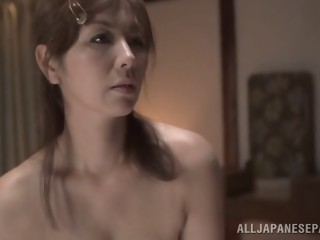 Chisato Shohda hot mature Asian babe gets hot creamed pussy