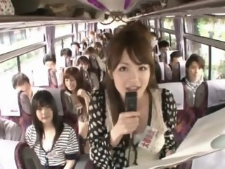 Crazy Asian girls have hot bus tour