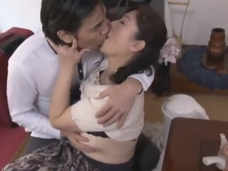 Japanese mom and young fall to temptation