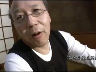 Japanese grandad and youthful cutie - unc