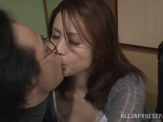 Yurie Matsushima naughty Asian housewife in position 69