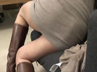 Mother I'd Like To Fuck in a cardigan screwed until a creampie