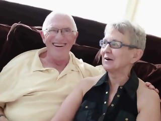Elderly husband fucked with college girl man